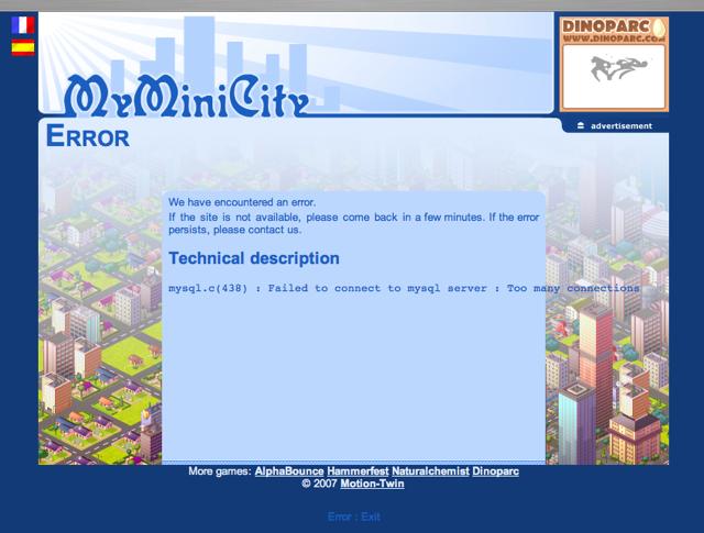 Myminicity_mysql_error